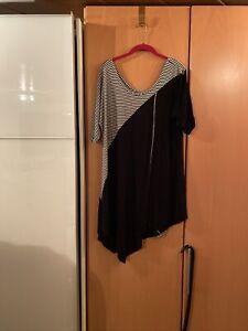 Schwarz weißes Longshirt  Gr. 44 Marke Jean-Marc-Philippe
