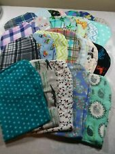 Handmade Contoured Burp Cloths $5 each Cotton Double Sided Flannel Mix or Match