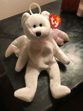 TY Original Beanie Baby - HALO the Angel Bear 8.5 inch Errors Retired Rare 1998