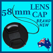 58mm High Quality Snap-On Lens Cap Cover For Canon Nikon