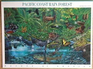 USA 2000 PACIFIC COAST RAINFOREST MINISHEET SGMS3748 UNMOUNTED MINT. CAT £14