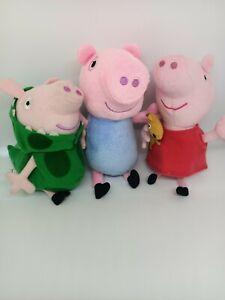 Peppa Pig Plush Toys X 3 2003 Dinosaur