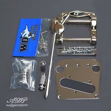DUESENBERG TREMOLA +WD B5 Conversion KIT: BRIDGE 6 SADDLES + Pickup PLATE CHROME