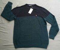 Springfield Men's Dark Blue Knit Pullover Crew Neck Jumper Size XL New With Tags