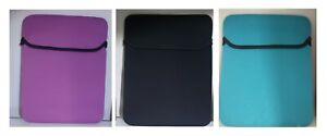 "tablet ipad cover 10"" 10.1"" neoprene protective sleeve bag case black pink blue"
