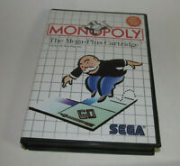 Monopoly (Sega Master, 1988) System SMS Complete CIB Game Very Good Shape