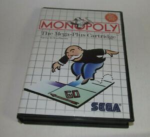Monopoly (Sega Master, 1988) System SMS Complete CIB Game Very Good Shape