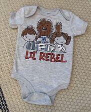 Star Wars Lil Rebel Bodysuit Size 12 Months GRAY