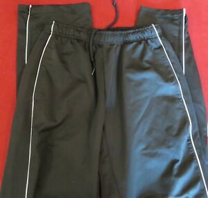 Juniors Black & White SOFFE Athletic Track Pants Size Medium EUC