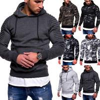 Autumn Winter Men Long Sleeve Sweatshirt Hooded Pullover Hoodie Top Sweater Tops