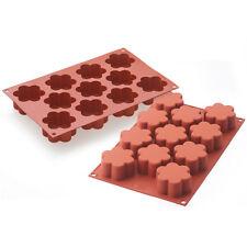 Silikomart Flexible Silicone Baking Mold, 6-Petal-Flower 2.7 Oz (80ml)