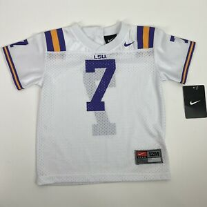 Vintage LSU Tigers Team Nike Football Infant Football Jersey #7 Size 12M NWT