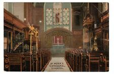 Vintage postcard Interior,  St Peter's Cathedral, Liverpool. Lang's Series. 1908