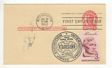 SSS: Classic Postal Card  FDC 1952  2c Lincoln  Stamped INTERPEX  Sc # UX43