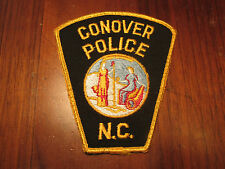 CONOVER NORTH CAROLINA POLICE PATCH (TOMBSTONE)