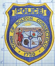 CONNECTICUT, TOWN OF BOLTON POLICE DEPT PATCH