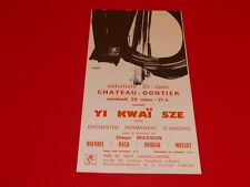COLL.J. LE BOURHIS AFFICHES / CONCERT YI KWEI SZE 斯 义 桂 (CHINE) 1969 ANGERS AMCA
