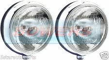 "SIM STAINLESS STEEL CHROME 9"" CIBIE SUPER OSCAR H3 REPLICA SPOT LIGHTS LAMPS"