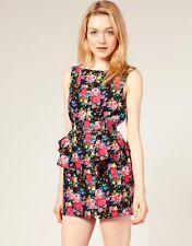 ASOS Glamorous Floral Cut Out Back Dress Size UK 12
