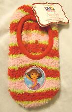 Girls Slipper Socks Shoe Size 7.5-3.5 Pink Red Nickelodeon Dora the Explorer