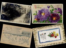 CANADA 1905-40s PPCs GREETINGS,PHOTO,NOVELTY,etc x 13
