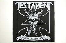 Testament Back Patch (BP130) Metal Rock Exodus Destruction Overkill Kreator