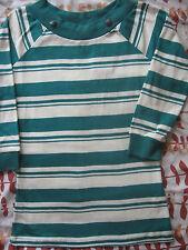 NEW WOMENS CLOTHES LONG 3/4 SLEEVE STRIPE TOP / T SHIRT STORE TWENTY ONE UK 12