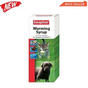 Beaphar Worming Syrup 45 ml For Pet Cat Dog Kitten and Puppy Wormer Treatment