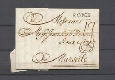 1735 Lettre Marque ROME, 22x5, Superbe X4891