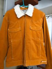 Cloudveil women M pumpkin orange corduroy jacket/fleece lined,great condition