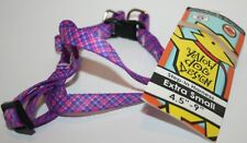Yellow Dog Design Step-In Dog Harness - Purple & Pink Diagonal Plaid - XSmall