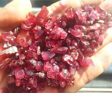 85g 400pc NATURAL GARNET RED ROUGH GEMSTONES LOOSE WHOLESALE LOT RAW MINERAL