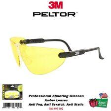 3M Peltor Professional Glasses, Anti Fog/Scratch/Static, Amber #97102