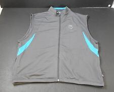 NWT K-Swiss Grey With Blue Trim Sleeveless Jacket Mens Large R6