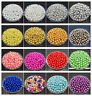4mm 6mm 8mm 10mm 12mm Acrylic Round Pearl Loose Spacer Beads Jewelry Finding DIY