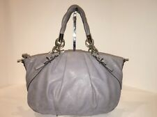 COACH Madison Pleated Leather Sophia Satchel Shoulder Handbag, Grey/Lt. Purple