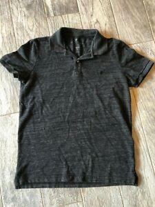 American Eagle Outfitters Polo Shirt Mens Medium Dark Gray Short Sleeve Top