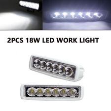 2pcs 18W Spreader LED Stainless 6000K White lights Marine Dock Light Flood Light