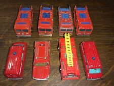 Mixed Lot Of 8 Matchbox/Hot Wheels And Others Emergency vehicles. Used.