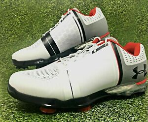 Mens Under Armour Spieth One Wide Golf Shoes White Red 1302342-108 NWB