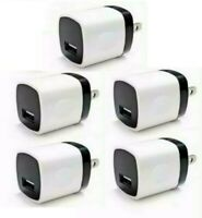 5x 1A USB Home Wall Charger Plug AC Power Adapter For Phone LG Samsung Android