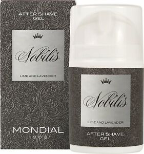 After Shave Gel Nobilis Mondial 50ml Lime & Lavender Sedative Made IN Italy