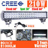 20inch 210W CREE LED Light Bar Flood Spot Combo Offroad 4x4 ATV Pickup 144w/126w