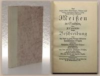 Cander Meißen im Sachsen Faksimile 1929 Ex. 143/300 Geschichte Ortskunde Bistum