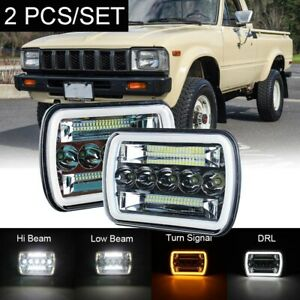 "Pair 7X6 5X7"" Inch H6054 SEALED BEAM LED HEADLIGHTS FOR TOYOTA PICKUP TRUCK"