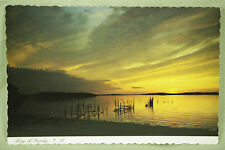 Vintage Postcard Unposted Color Bay of Fundy Tides New Brunswick Canada Sunset