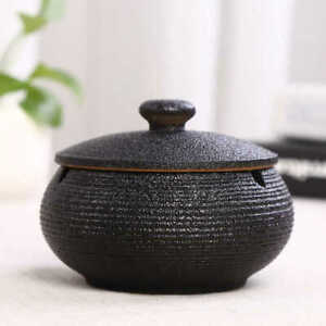 Ceramic Ashtray with Lids,Windproof,Cigarette Ashtray for Indoor