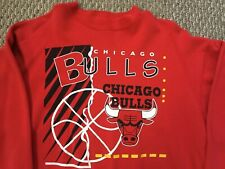 Vintage Rare Chicago Bulls Graphic Print Crewneck 80/90s Hanes Made USA XXL
