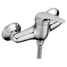 ENKI Modern Chrome Wall Mounted Manual Shower Mixer Valve Bathroom Tap RUBY