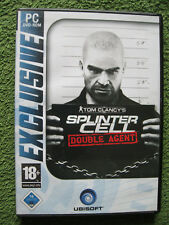 PC DVD Rom Spiel Tom Clancy's Splinter Cell: Double Agent (PC, 2007, DVD-Box)